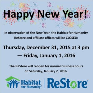 Closed for New Years 2016