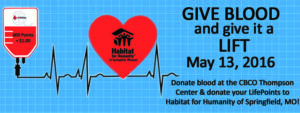 Donate Blood and Repair a Home!